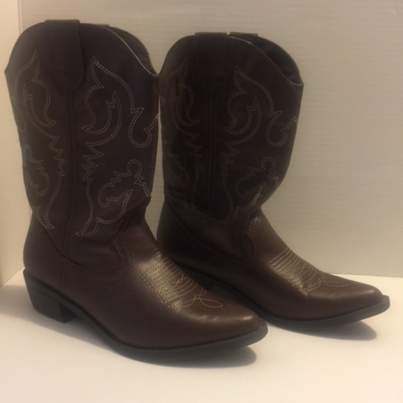 234137c6a5c SO Kohl's Cowgirl Brown Boots Women's Size 7-1/2 M